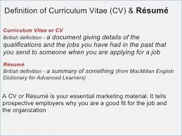Resume Cv Meaning Stunning 5610 Define Resume Cv Meaning Curriculum Vitae Example Uk Of Perfect Then