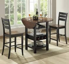 bernards ridgewood 3 piece drop leaf pub table set wayside with regard to round bistro