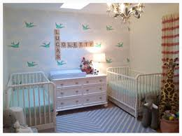 Twin nursery for boy and girl