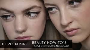 how to get a gorgeous mod makeup look the zoe report by rachel zoe