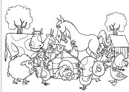 Free Farm Scene Coloring Pages Farm Animals Coloring Pages To Print