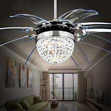 crafty design crystal chandelier ceiling fan combo best of led kitchen light pertaining to decorations 2