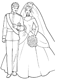 Coloring Girls Coloring Pages Barbie And Ken Wedding Books For