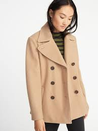 soft brushed peacoat for women