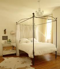 Iron Canopy Bed Drapes Design Ideas