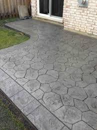 concrete patio stamps fresh stamped concrete patio cost vs pavers