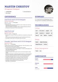 Certified Developer Resume Front End Developer Resume Example And Guide For 2019
