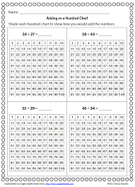 Small Hundreds Chart Printable 55 True Addition Number Chart