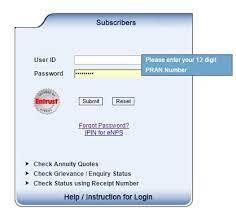 accessing nps account and cra set ipin