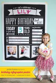 diy crafts ideas free birthday infographic poster from petite lemon prints up to 36x48