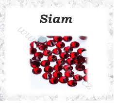 Broušené Kamínky Siam Ss3 100ks