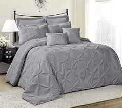 solid color comforter. Beautiful Solid 8 Piece Lucilla Small Elastic Embroidery Solid Color Comforter Sets Queen  Gray For A