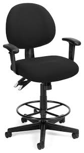ofm ergonomic fabric executive computer task chair with drafting kit. ergonomic computer task armchair and drafting kit, black contemporary-office-chairs ofm fabric executive chair with kit m