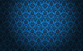 Blue and black damask surface HD ...