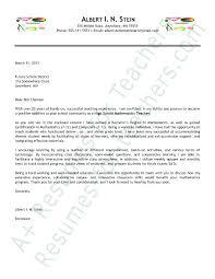 Cover Letter For Elementary School Teacher Middle School Teacher