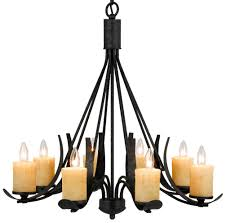 morelis blacksmith iron chandelier glass shades 8 lights 30 wx28 h