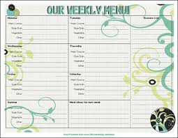 weekly menue planner menu plan monday free printable menu 3 boys and a dog