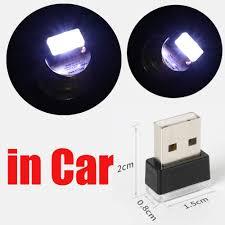 <b>USB</b> Lamps White <b>4pcs</b> CHIYOU Car <b>Mini USB LED</b> Car Interior ...