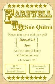 best design of farewell invitation template