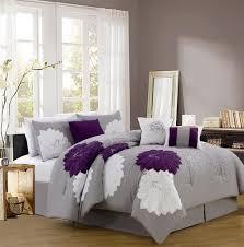purple and grey duvet sets