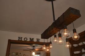 reclaimed wood bar lighting