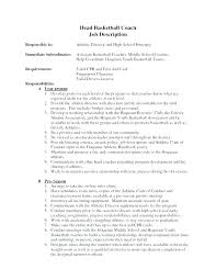 cover letter description cover letter for basketball coach sample coaching resume cover