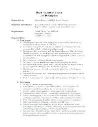 cover letter description cover letter for basketball coach sample coaching resume cover