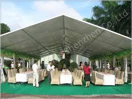 100 seater temporary outdoor garden party canopy tent open gable sunshade construction