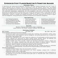 Special Event Planner Resume Event Planner Resume Sample Special