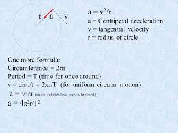 10 rv a v 2 r a centripetal acceleration v tangential