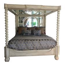 Phyllis Morris Canopy King Bed With Matching Nightstands and Swan ...