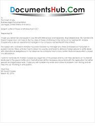 Letter For Power Of Attorney Sample Power Of Attorney Letters Power Of Attorney Letter