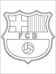 Kleurplaat Barcelona Logo