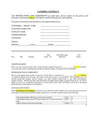 catering contract wedding catering contract sample