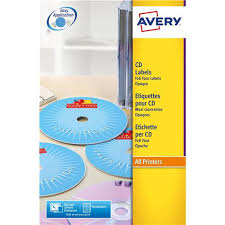 Avery Cd Labels Avery L7676 Laser Cd Labels 117mm Dia Ref L7676 25 25 Sheets