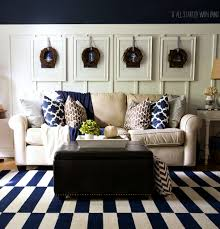 Navy Living Room Decor Fall Decor In Navy And Blue