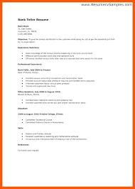 Bank Teller Resume Template Enchanting Bank Teller Resume Template Bank Ller Resume Stunning Sample Resume