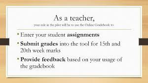 Teacher Gradebook Online Schoology Ppt Download