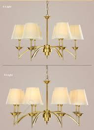 Großhandel Moderne Messing Kronleuchter Lampe 6 Lichter Schatten Deckenleuchter Pendelleuchte Leuchte Beleuchtung Lampe Für Wohnzimmer Schlafzimmer