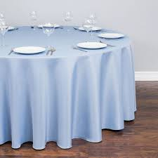 round polyester tablecloth serenity blue