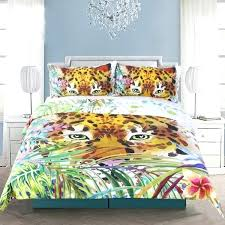 animal print duvet cover set leopard design art bedding infinity deals covers king size intense