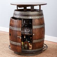 furniture vintage oak barrel bistro table whiskey finish preparing zoom