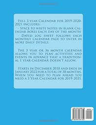 3 Year Calendar 3 Year Calendar 2019 To 2021 With 2018 2020 Bedandbreakfastitalia Info
