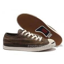 converse plaid jack purcell maroon canvas brown leather free