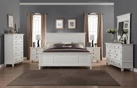 Regitina 016 White Bedroom Furniture Set King Bed Dresser Mirror 2 Nightstands Chest