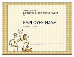 Free Employee Of The Month Certificate Template Impressive Free Teacher Appreciation Certificates Download Word And With