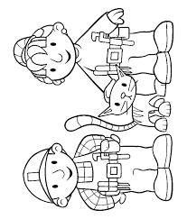 Small Picture Bob the builder and Wendy and Titus coloring page