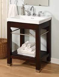Empire Industries Ny24dc 24 Inch Bath Console With Dark Cherry Finish And Optional Ceramic Countertops