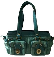 Coach Legacy Handbag Patent Leather Handbag Purse Designer Satchel in  Turquoise