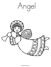 Small Picture Angel Coloring Page Twisty Noodle